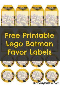 Free printable Lego Batman Favor Tags - Lego Batman - Ideas of Lego Batman - Free printable Lego Batman Favor Tags Lego Batman Birthday, Lego Batman Party, Disney Cars Birthday, Lego Birthday Party, Superhero Party, Boy Birthday Parties, 5th Birthday, Batman Party Favors, Batman Party Decorations