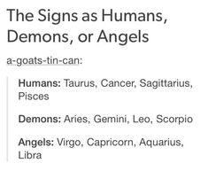 what type of demon is your zodiac sign - Google Search