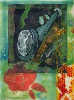 """Bees' Dream,"" encaustic collage, chinyuenart.com"