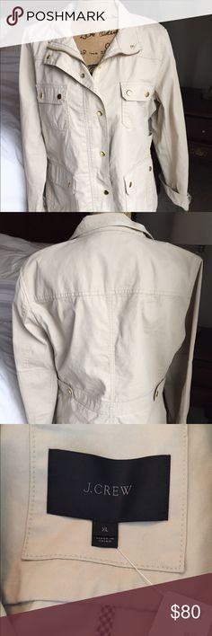 J Crew Jacket NWT Off White brand new and never worn.  Gold buttons.  Perfect for fall and spring.  Perfect for layering. J. Crew Jackets & Coats
