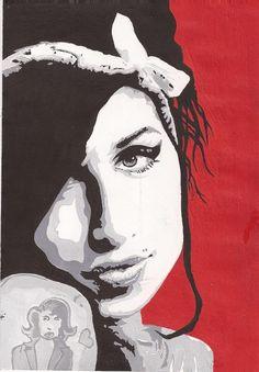Amy Winehouse Pop Art Painting by X-Alone-X on DeviantArt