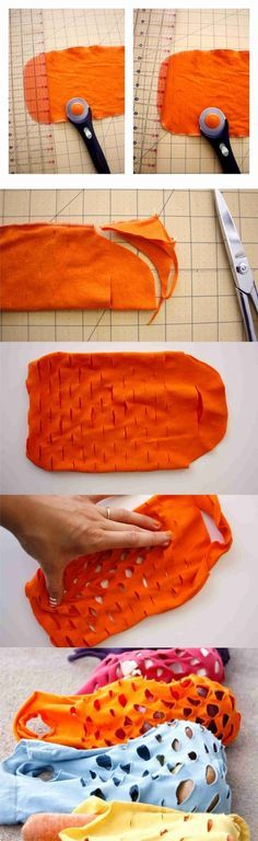 Ingeniosa bolsa con una camiseta