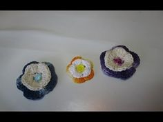Croche florzinha - YouTube