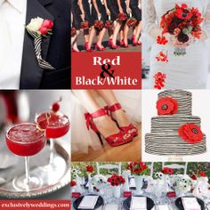 Black, White and Red Wedding Colors  | #weddingcolors