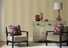 Snake White / Gold Wallpaper by Graham and Brown