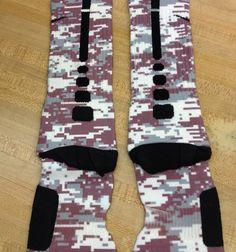 """""""Maroon Digi Camo"""" Nike Elite Socks · Sock Insanity · Online Store Powered by Storenvy Nike Elite Socks, Nike Socks, Sport Socks, Softball Socks, Baseball Socks, Softball Hair, Volleyball, Sexy Socks, Cool Socks"""