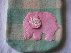 """Hot Water Bottle Cover """"Elephant"""""""