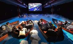 The Titanic Theatre--an immersive experience .don't exactly know what this is but looks cool! Gala Dinner, 3d Kino, Funny Memes, Hilarious, Just Dream, To Infinity And Beyond, Thats The Way, Humor, Movie Theater