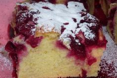 Prajitura cu visine Vanilla Cake, Cheesecake, Pudding, Sweet, Desserts, Food, Jelly, Candy, Tailgate Desserts