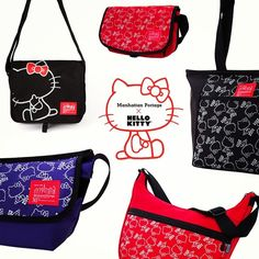 sanrio + Manhattan Portage collaborate on limited edition  hellokitty  collection! Kawaii 😍😍 4a46123c8af1f
