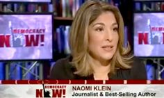 """Author Naomi Klein joined Democracy Now!'s Amy Goodman to discuss her new book """"This Changes Everything"""" about fighting global climate change..."""