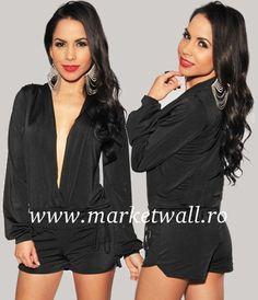 Salopeta neagra Kaylee Rompers, Costume, My Style, Modern, Dresses, Fashion, Vestidos, Moda, Trendy Tree