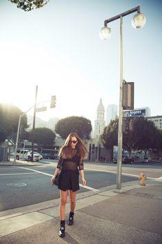 "I've walked this street aka ""my runway"" a million times <3 downtown LA"