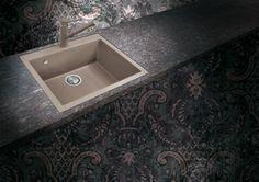 Modello ON6010 Plados della serie ONE colore Tartufo! Lavello una vasca, dimensioni 600x510mm. #Plados #ArredoItaliano
