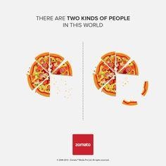 """Excellente campagne de Zomato sur le thème """"Il y a deux sortes de personnes dans ce monde"""""""