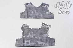 無料パターンとMelly縫っによって1男の子ロンパースステップ