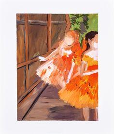 Dancers in the Wings, moths, Paris Opera, Degas