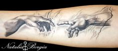 Creation of Adam detail tattoo by nataliaborgia