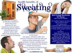 Health Benefits of Sweating Sweating. Not the most favorite past time, yet the health benefits that sweating provides to your body are many. So if you feel uncomfortable, dirty or smelly when you sweat, remember that sweating is usually a sign of a healthy body. Read more at WPBeginner: Health Benefits of Sweating http://www.exhibithealth.com/general-health/health-benefits-of-sweating-791/
