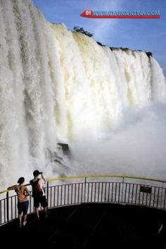 Panoramic view of the Iguazu Falls on the Brazilian side. A popular saying states that in the spectacle of the Iguazu Falls  is on Brazilian stage where you will be a privileged audience.  Without doubt the scenic obtained from the Brazilian side is excellent. From the viewpoints and walkways of Iguazu National Park you can enjoy a view of almost all the falls. Besides impressive an approach to the Garganta del Diablo. Read more in link... Check your #Travel #Tours #Packages #Vacations