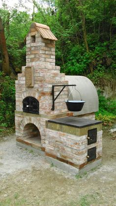 New garden kitchen ideas outdoor oven cooking ideas – Designs Outdoor Kitchen Grill, Pizza Oven Outdoor, Backyard Kitchen, Outdoor Kitchen Design, Outdoor Cooking, Backyard Patio, Backyard Landscaping, Outdoor Fire, Outdoor Living