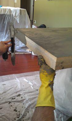 Meubel betonlook maken