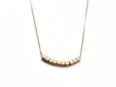 Arrow Necklace, Gold Necklace, Silver Jewelry, Unique Jewelry, Cube, Minimalist, Beads, Trending Outfits, Handmade Gifts