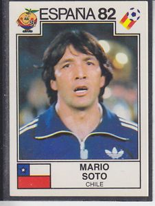 Mario Soto of Chile. 1982 World Cup Finals card. Uefa Football, World Football, Sport Football, 1982 World Cup, Fifa World Cup, Rugby Poster, Football Stickers, Chili, World Cup Final