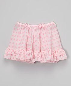 Look at this #zulilyfind! Pink Dot Ruffle Skirt - Toddler & Girls #zulilyfinds