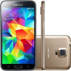 (Submarino) Smartphone Samsung Galaxy S5 Duos SM - G900M Dual Chip Desbloqueado Android 4.4 Tela 5.1 ´ 16GB 4G Wi - Fi GPS - Dourado - de…