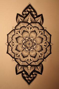 Mandala designs, paryys: not sure whether to add colour, so Girly Tattoos, Love Tattoos, Tattoo You, Mandala Design, Mandala Art, Flower Mandala, Art Lotus, Mandala Sleeve, Dot Work Tattoo