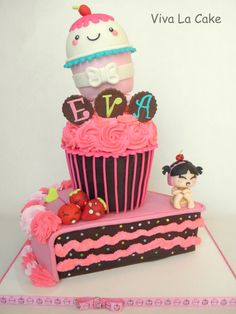 Kawaii Cupcake// ME ENCANTA!!!!!!!!!!!!!! =)