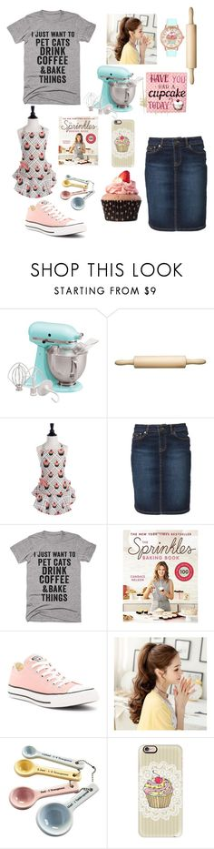 """Baking 🍰🍪"" by wonderfullyme64 ❤ liked on Polyvore featuring KitchenAid, Kitchen Craft, McGregor, Converse, Mason Cash, Casetify and Betsey Johnson"