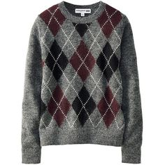 Ines Argyle Crew Neck Sweater ($31) ❤ liked on Polyvore featuring tops, sweaters, multi colored sweater, cocktail tops, knit sweater, multi color sweater and crew neck sweaters