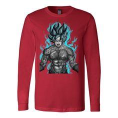 Super Saiyan - Goku with tattoo - Unisex Long Sleeve T Shirt - TL01327LS