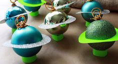 Planet Food Tag or Place Holder . Outer Space Party Decorations ...