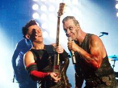 Richard Kruspe and Till Lindemann Rock Bands, Metal Bands, Till Lindemann, Oliver Riedel, Richard Kruspe, Industrial Metal, Great Bands, Music Is Life, Hard Rock