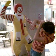 Ronald's pimp hand is strong.