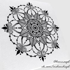 Instagram media by hennaspb - Свободный эскиз ✒️ #mandala #mandalatattoo #sketch #эскизтату #hennaspb #tattoodesign #dotwork #мандала