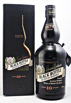Black Bottle 10 year old Scotch Whisky Tequila, Vodka, Good Whiskey, Scotch Whiskey, Bourbon Whiskey, Alcohol Bottles, Liquor Bottles, Champagne, Whiskey Brands