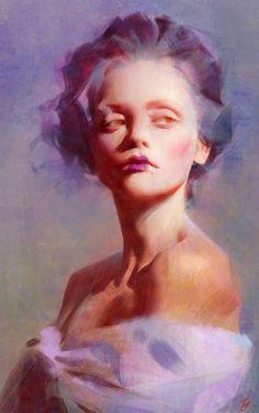 ArtStation - Portrait with Process Video, Wangjie Li