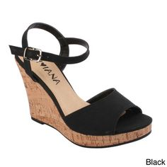 Diviana Women's 'Kealie-02' Ankle Strap Wedge Sandals   Overstock.com Shopping - Great Deals on Wedges