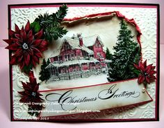 Stamping with Julie Gearinger: Vintage Christmas Greetings- Two Challenges in One!