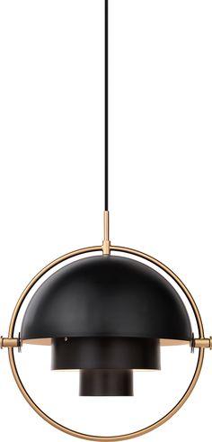 33 New Lighting Products to Brighten Up Any Space :: Louis Weisdorf's Multi-Lite for Gubi. Interior Design Magazine, Pendant Lamp, Pendant Lighting, Brass Pendant, Luz Artificial, Lampe Spot, Scandinavia Design, Kitchen Lighting, Lighting Design