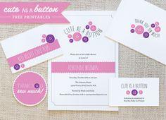 Cute as Button Free Printables