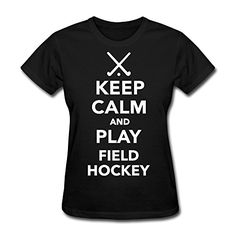 Baixin Women's Keep Calm Play Field Hockey T-shirt S