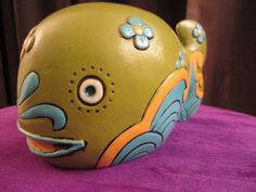 1968 Pride Creations Groovy Retro Whale Bank Hand Painted | eBay
