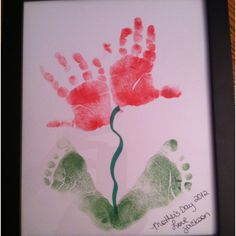 One of the gifts Jackson made for his great-grandmother, both grandma's and Godmother for Mother's Day.