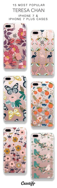 15 Most Popular Teresa Chan Protective iPhone 7 Cases and iPhone 7 Plus Cases. More Artist Pattern iPhone case here > https://www.casetify.com/collections/top_100_designs#/?vc=zmCeFMwaT6