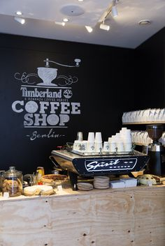 Timberland pop-up shop that serves amazing coffee. Berlin